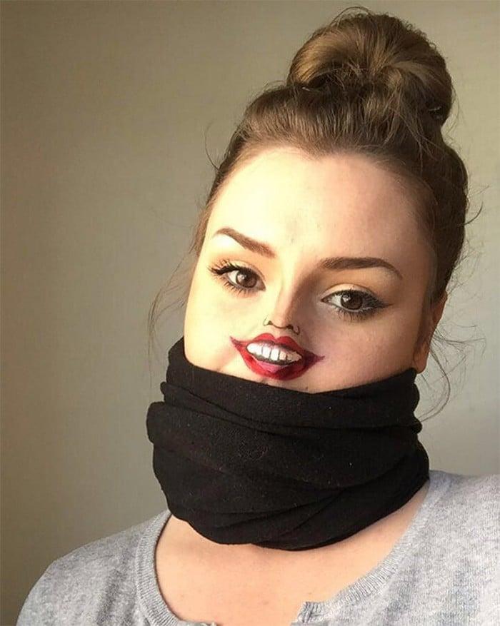 Esta pequena maquiagem para o rosto é a solução perfeita para uma máscara de coronavírus (37 fotos) 17