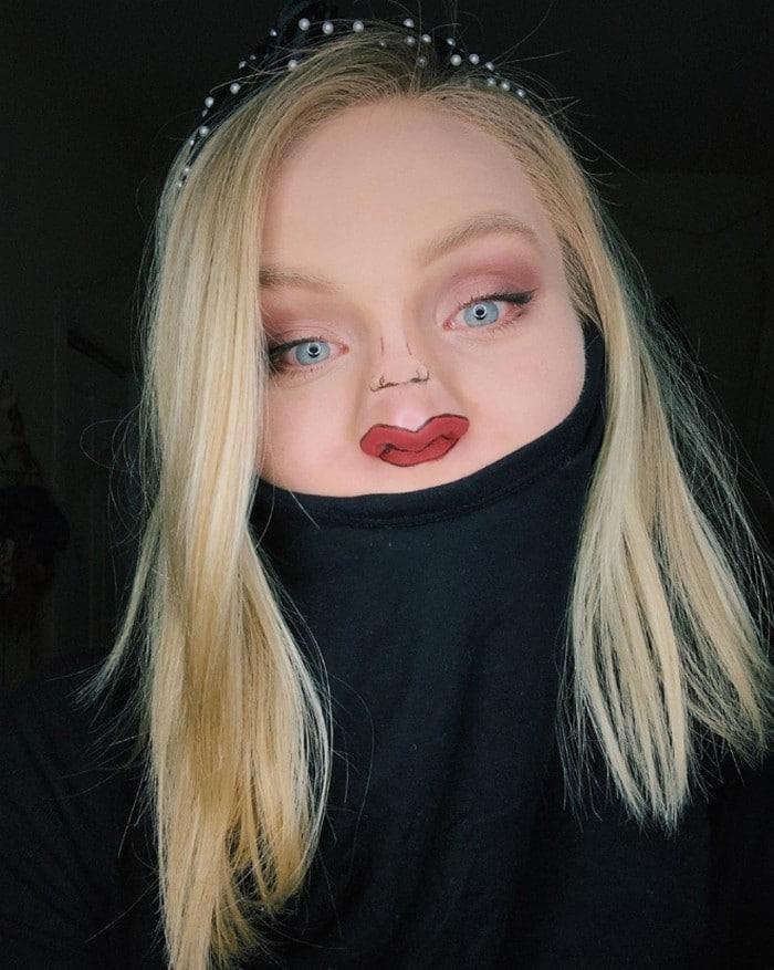 Esta pequena maquiagem para o rosto é a solução perfeita para uma máscara de coronavírus (37 fotos) 21