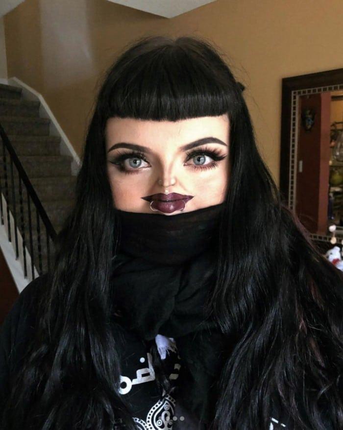 Esta pequena maquiagem para o rosto é a solução perfeita para uma máscara de coronavírus (37 fotos) 28