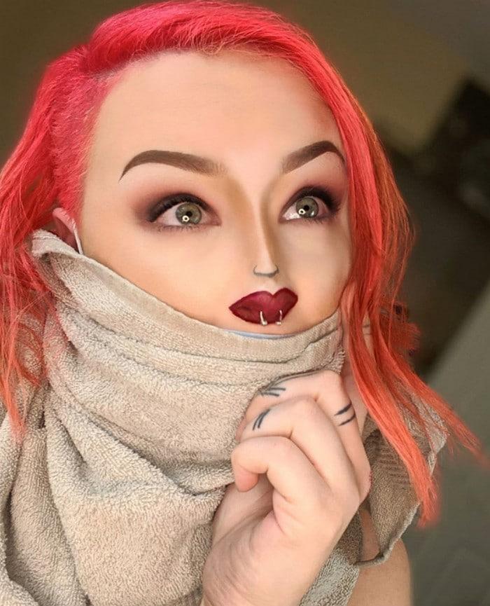 Esta pequena maquiagem para o rosto é a solução perfeita para uma máscara de coronavírus (37 fotos) 31