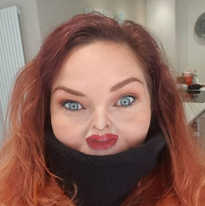 Esta pequena maquiagem para o rosto é a solução perfeita para uma máscara de coronavírus (37 fotos) 34