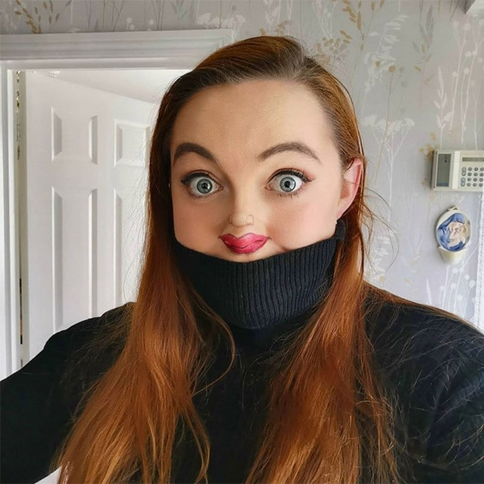 Esta pequena maquiagem para o rosto é a solução perfeita para uma máscara de coronavírus (37 fotos) 36
