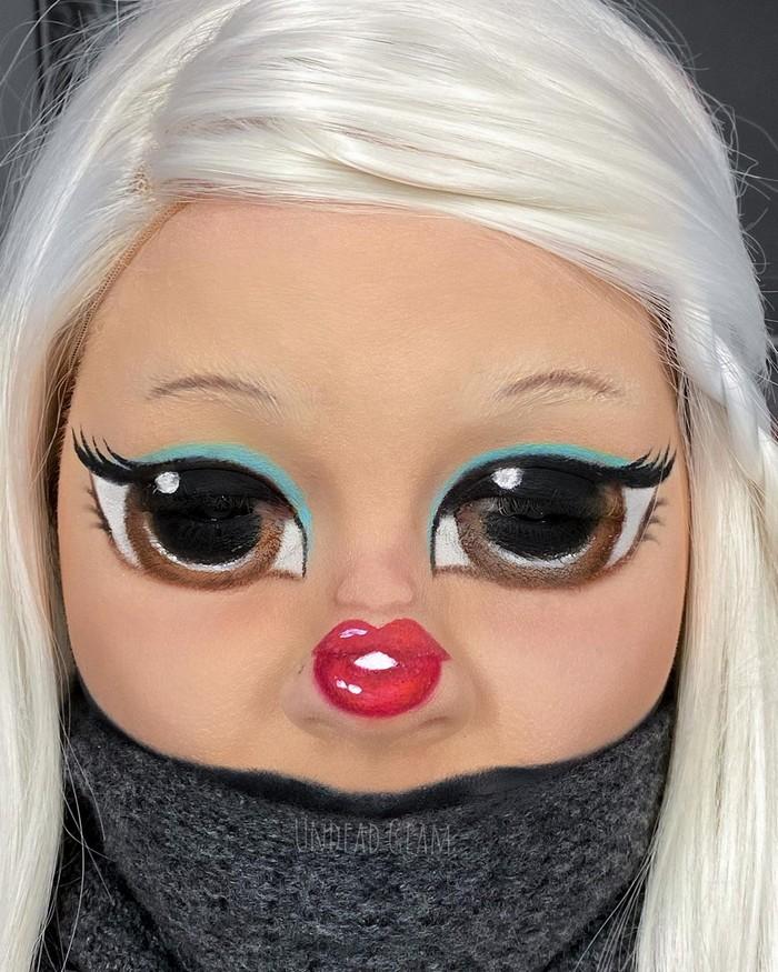 Esta pequena maquiagem para o rosto é a solução perfeita para uma máscara de coronavírus (37 fotos) 38