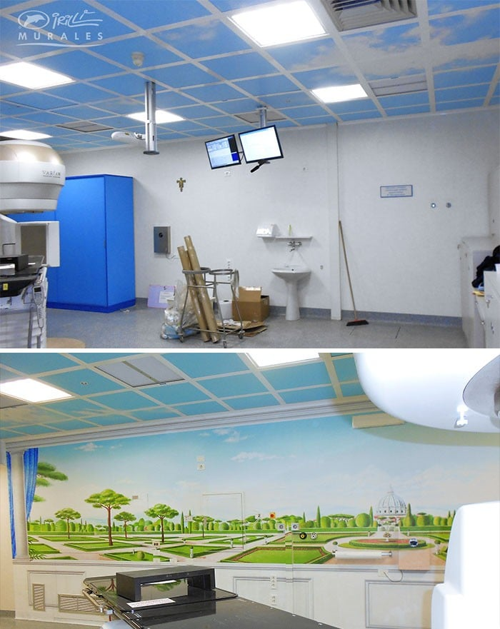 34 fotos de belos murais em hospitais do artista italiano que ajudam crianças e adultos 7