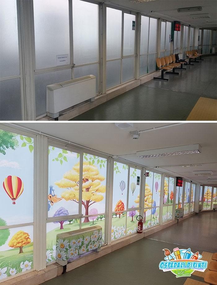 34 fotos de belos murais em hospitais do artista italiano que ajudam crianças e adultos 17