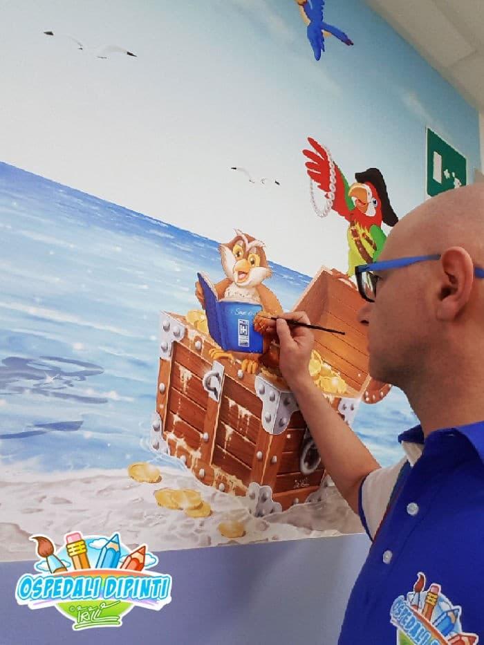 34 fotos de belos murais em hospitais do artista italiano que ajudam crianças e adultos 20