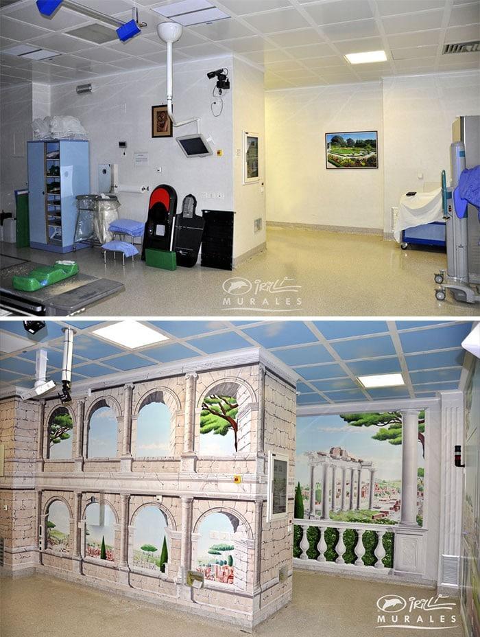 34 fotos de belos murais em hospitais do artista italiano que ajudam crianças e adultos 26