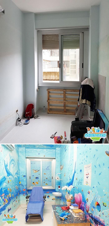 34 fotos de belos murais em hospitais do artista italiano que ajudam crianças e adultos 27