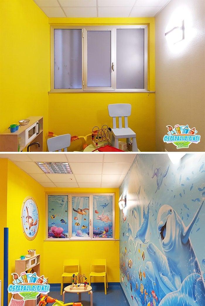 34 fotos de belos murais em hospitais do artista italiano que ajudam crianças e adultos 29