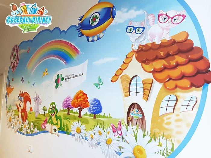 34 fotos de belos murais em hospitais do artista italiano que ajudam crianças e adultos 32