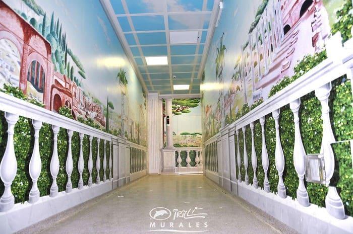 34 fotos de belos murais em hospitais do artista italiano que ajudam crianças e adultos 33