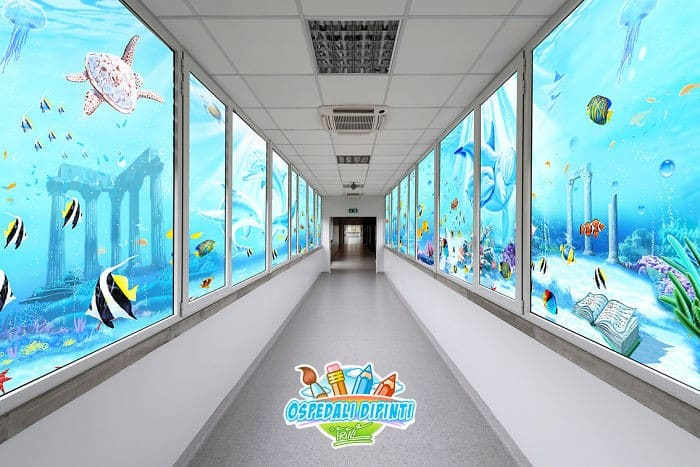 34 fotos de belos murais em hospitais do artista italiano que ajudam crianças e adultos 35