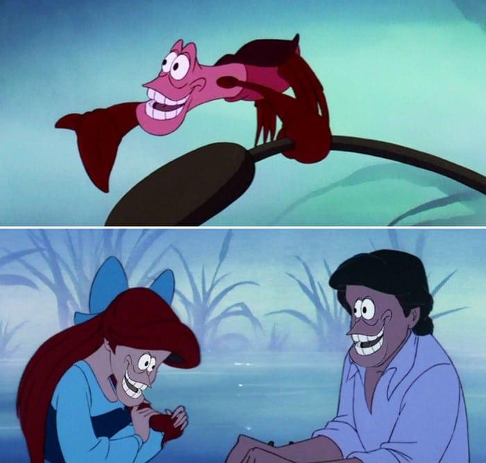 O que acontece quando você trocar os rostos de personagens de desenhos da Disney (23 fotos) 4