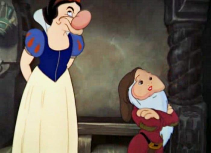 O que acontece quando você trocar os rostos de personagens de desenhos da Disney (23 fotos) 5