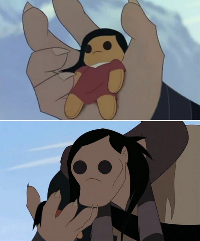 O que acontece quando você trocar os rostos de personagens de desenhos da Disney (23 fotos) 11