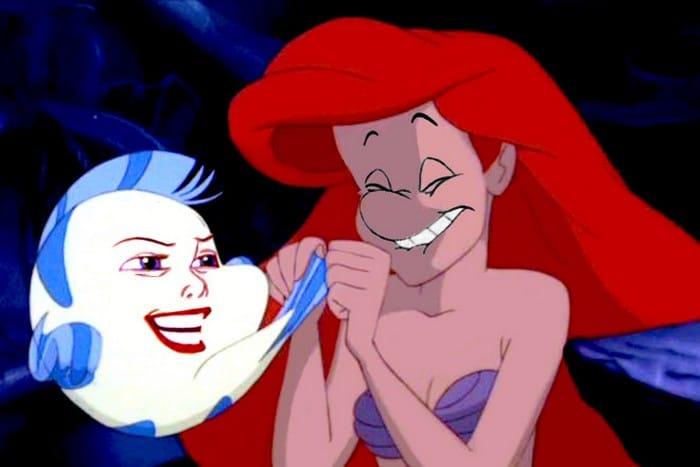 O que acontece quando você trocar os rostos de personagens de desenhos da Disney (23 fotos) 18