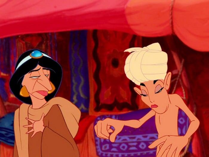 O que acontece quando você trocar os rostos de personagens de desenhos da Disney (23 fotos) 24
