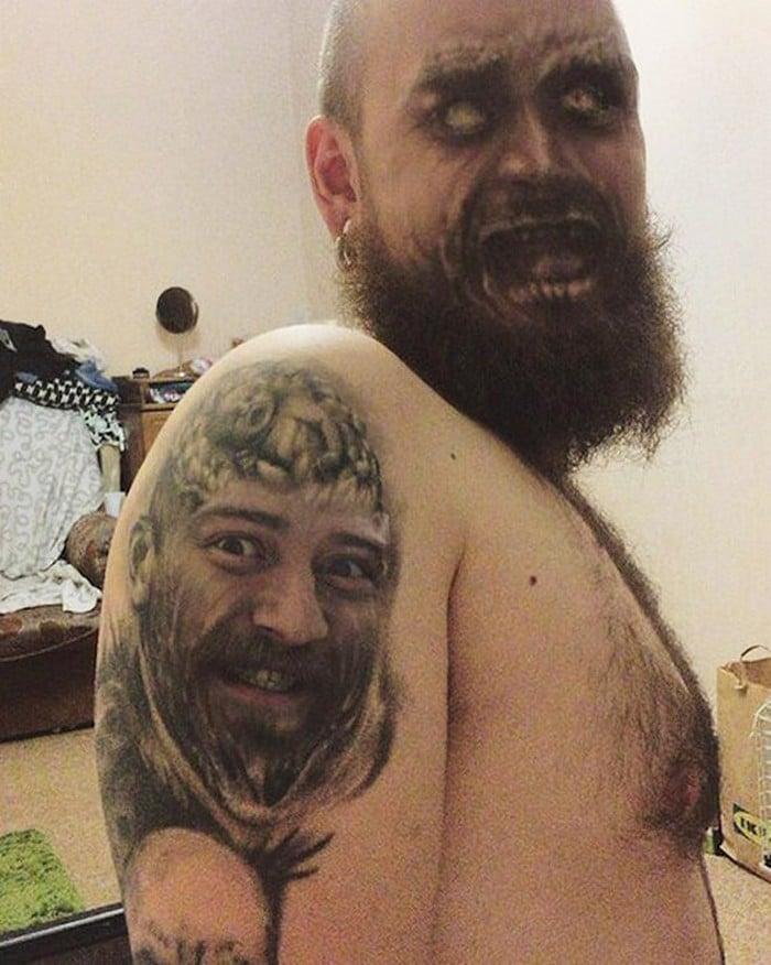 Quando você usa o aplicativo de troca de rosto em sua tatuagem (21 fotos) 5