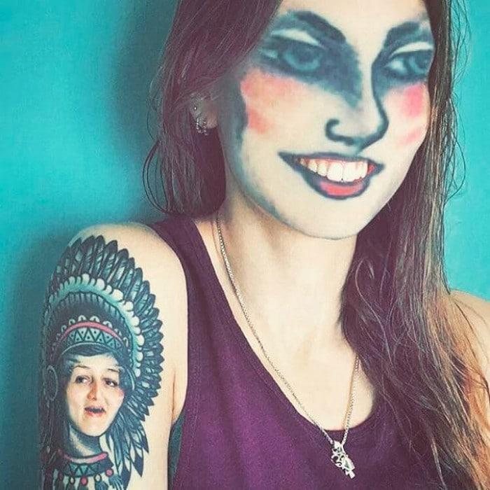 Quando você usa o aplicativo de troca de rosto em sua tatuagem (21 fotos) 8