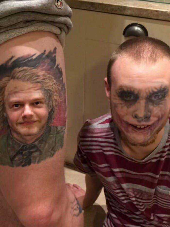Quando você usa o aplicativo de troca de rosto em sua tatuagem (21 fotos) 12