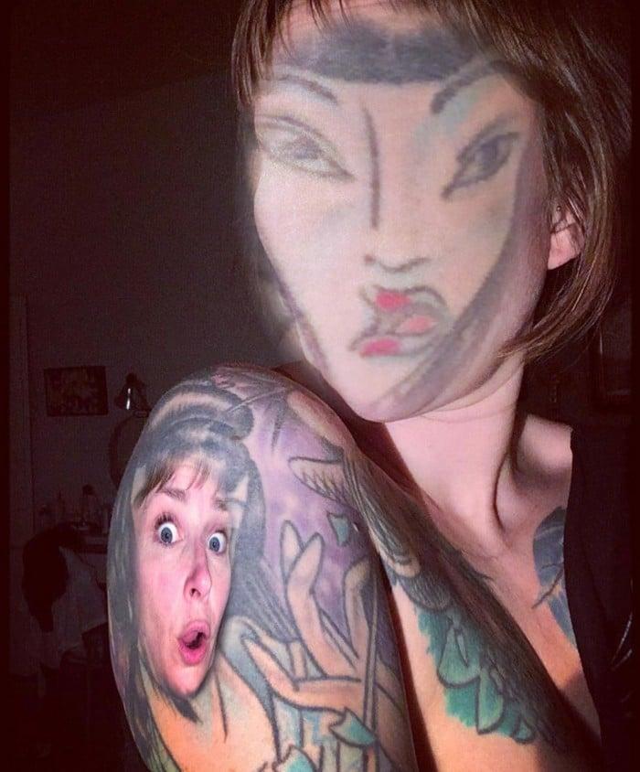 Quando você usa o aplicativo de troca de rosto em sua tatuagem (21 fotos) 19