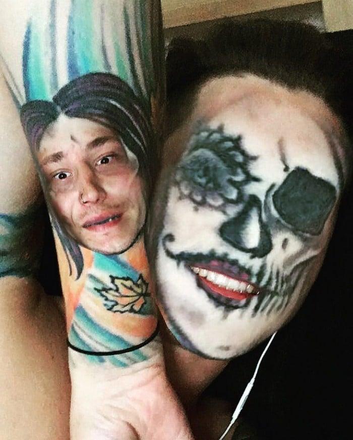 Quando você usa o aplicativo de troca de rosto em sua tatuagem (21 fotos) 20