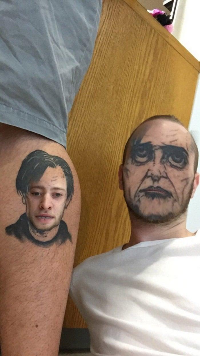 Quando você usa o aplicativo de troca de rosto em sua tatuagem (21 fotos) 22