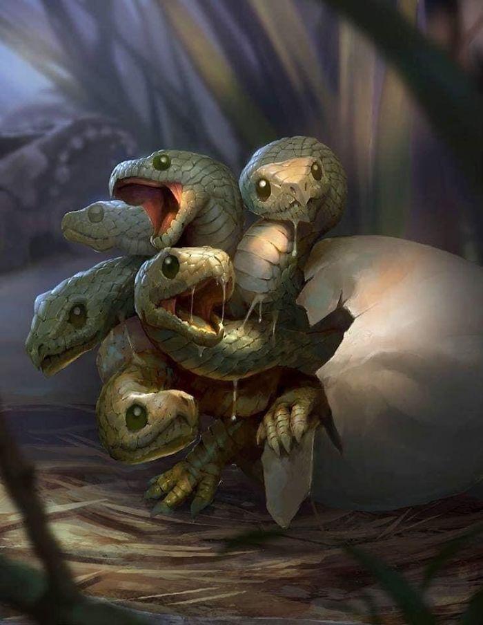Artista retrata criaturas místicas em sua forma vulnerável, quando ainda eram bebês (30 fotos) 7