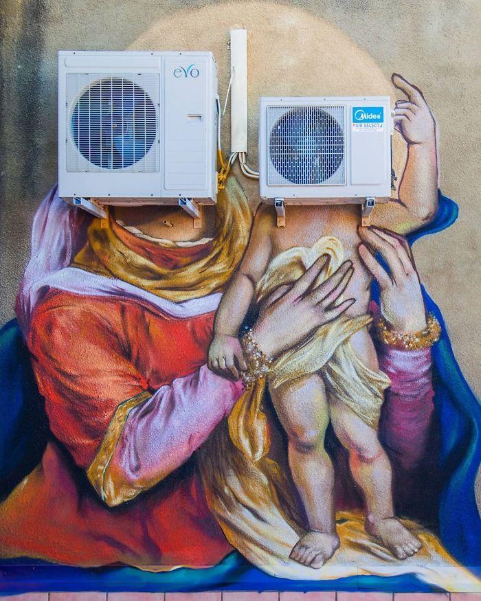 Artista sul-africano pinta grafites incríveis que interagem com o ambiente (32 fotos) 30