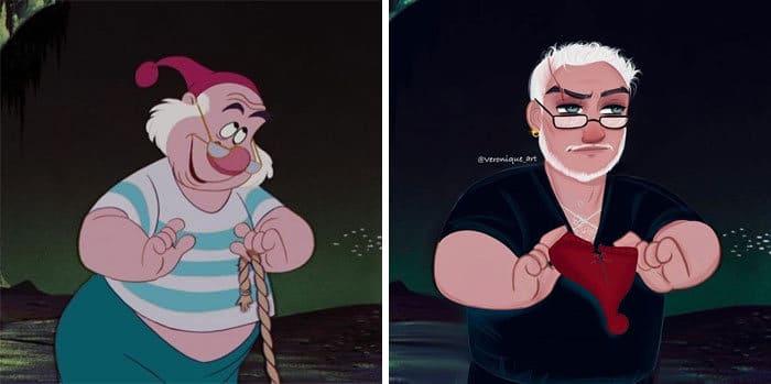 Artista reimagina personagens da Disney como mulheres e homens modernos 8