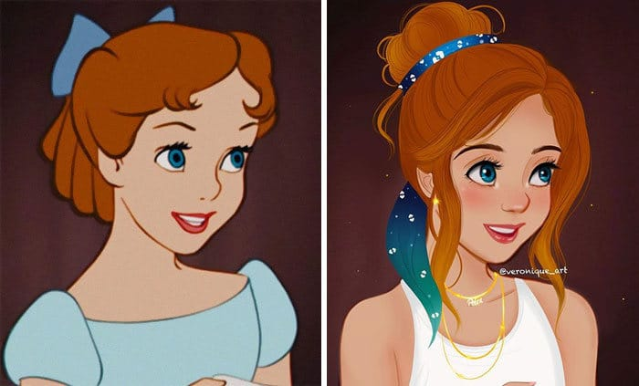 Artista reimagina personagens da Disney como mulheres e homens modernos 9