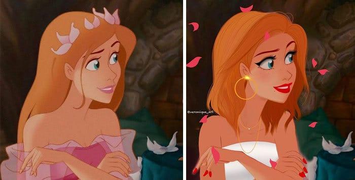 Artista reimagina personagens da Disney como mulheres e homens modernos 11