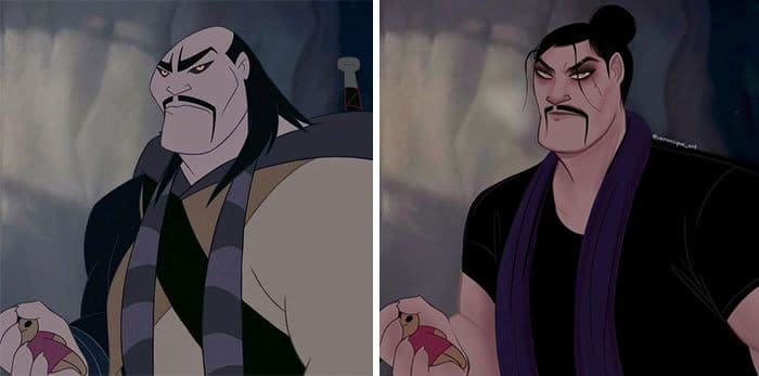 Artista reimagina personagens da Disney como mulheres e homens modernos 15