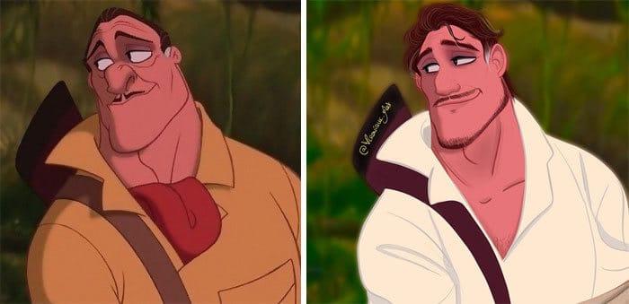 Artista reimagina personagens da Disney como mulheres e homens modernos 17
