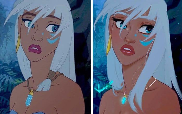 Artista reimagina personagens da Disney como mulheres e homens modernos 24