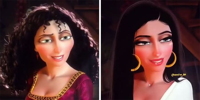 Artista reimagina personagens da Disney como mulheres e homens modernos 27