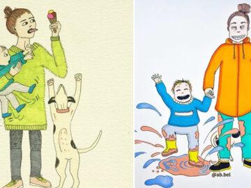 Uma mãe norueguesa mostra sua vida em ilustrações irônicas 4