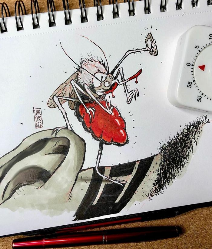 Artista russo cria ilustrações que são divertidas e assustadoras 6