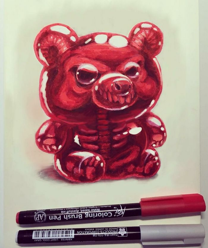 Artista russo cria ilustrações que são divertidas e assustadoras 9