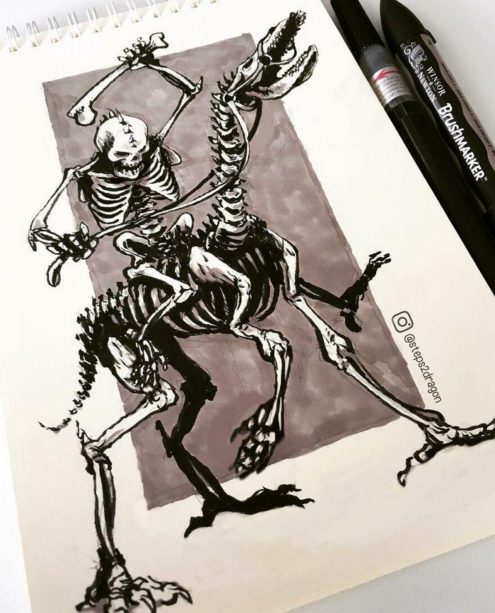 Artista russo cria ilustrações que são divertidas e assustadoras 12