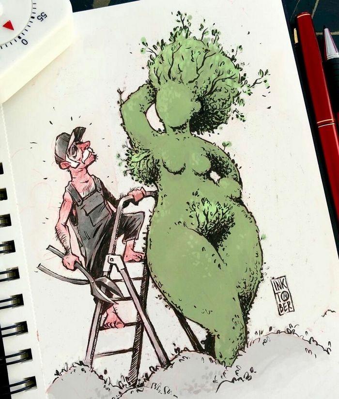 Artista russo cria ilustrações que são divertidas e assustadoras 15