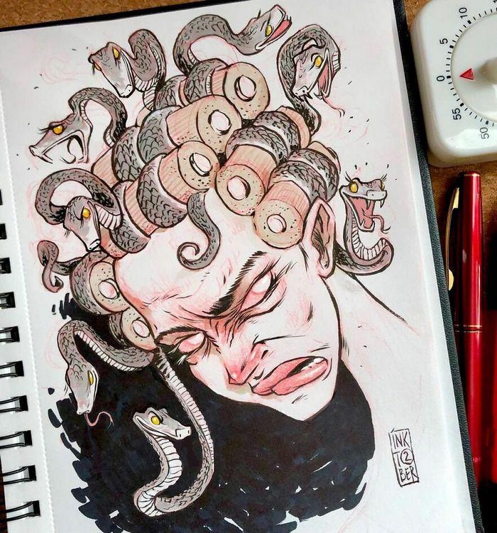 Artista russo cria ilustrações que são divertidas e assustadoras 17