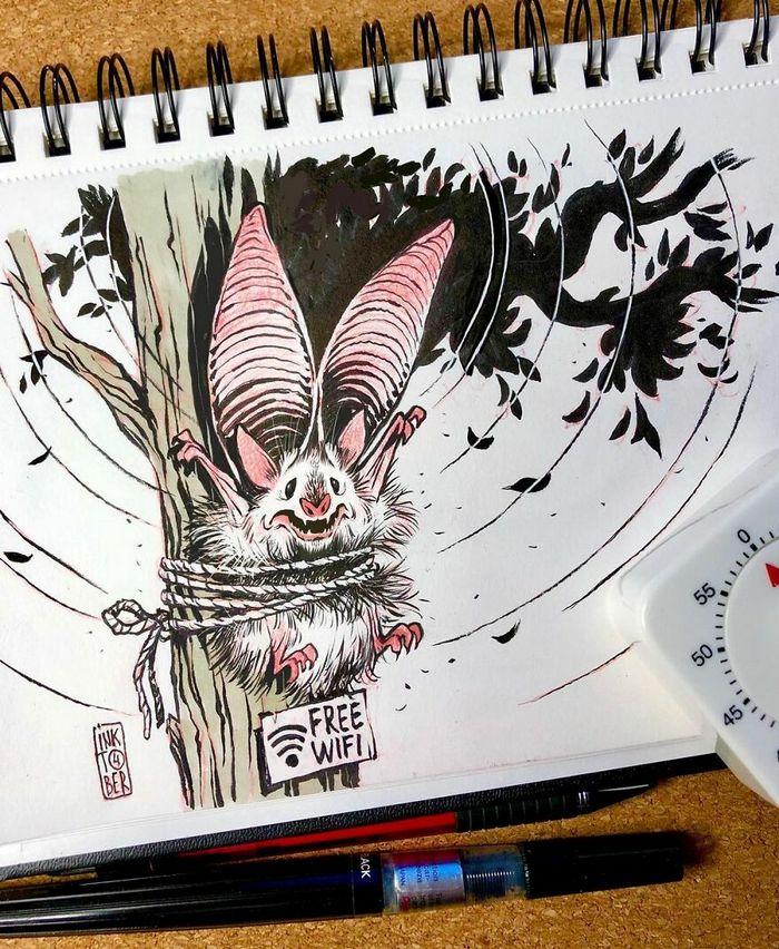 Artista russo cria ilustrações que são divertidas e assustadoras 23