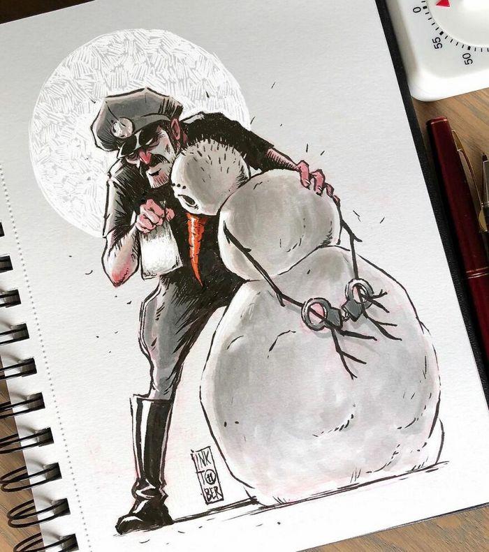 Artista russo cria ilustrações que são divertidas e assustadoras 24