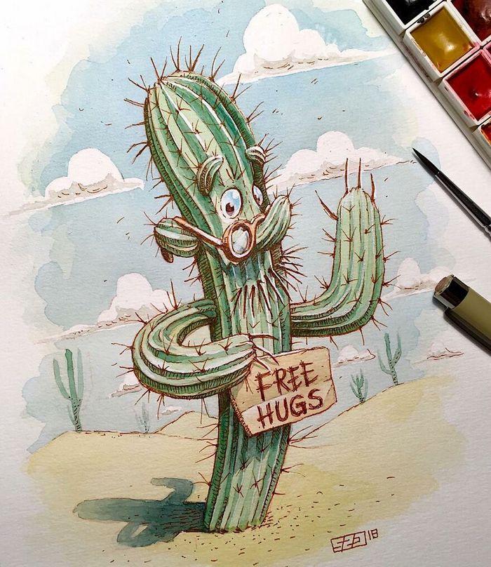 Artista russo cria ilustrações que são divertidas e assustadoras 25
