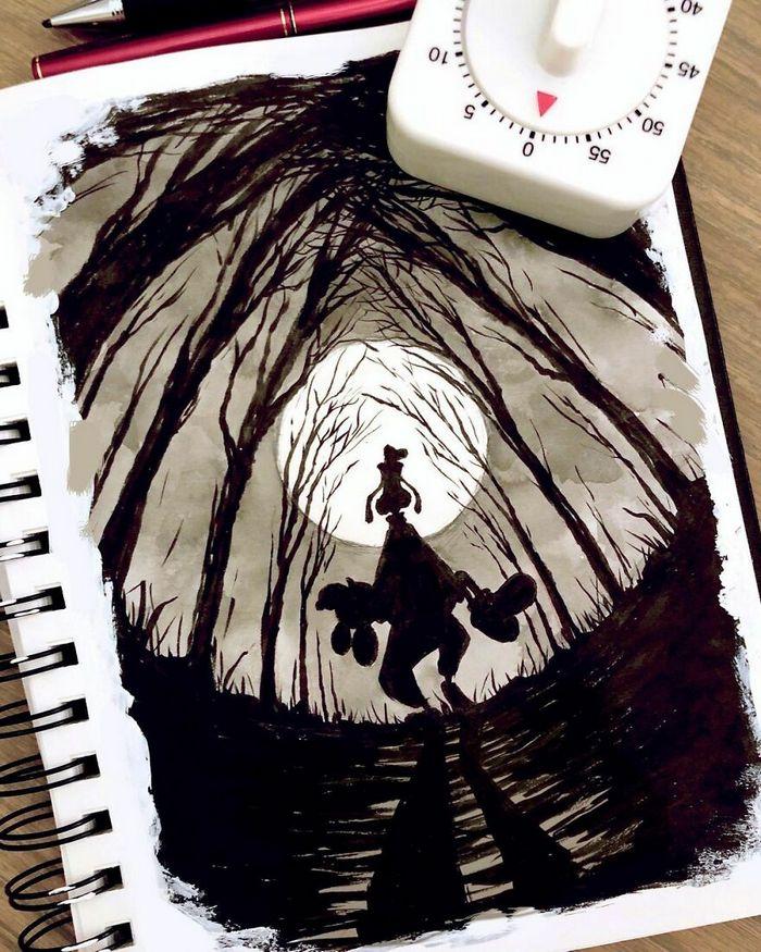 Artista russo cria ilustrações que são divertidas e assustadoras 26