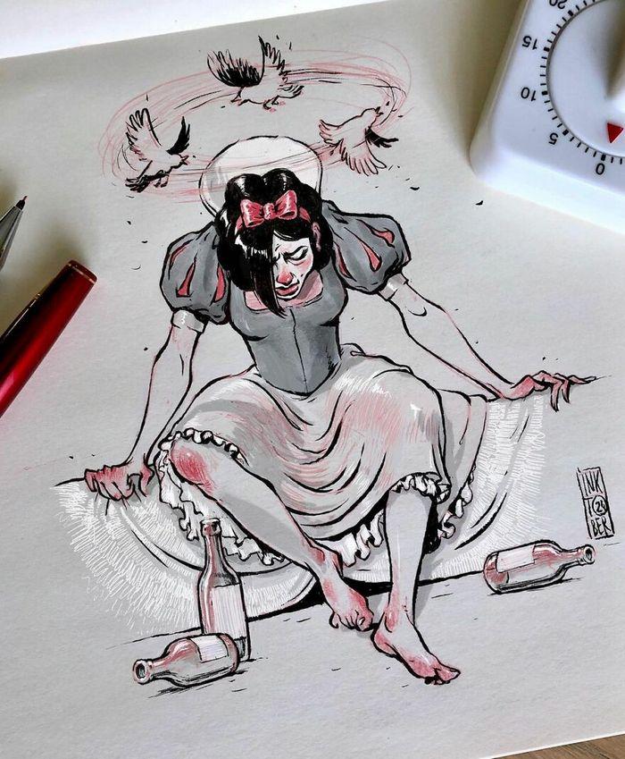 Artista russo cria ilustrações que são divertidas e assustadoras 32
