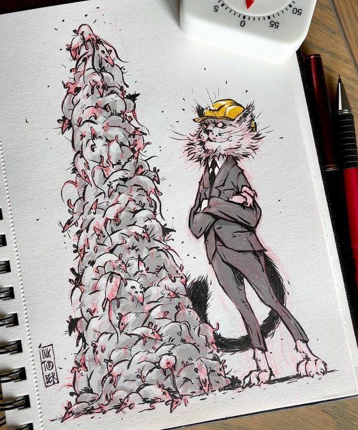 Artista russo cria ilustrações que são divertidas e assustadoras 35