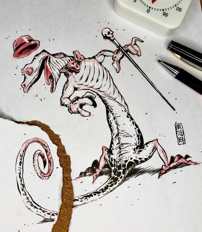 Artista russo cria ilustrações que são divertidas e assustadoras 40
