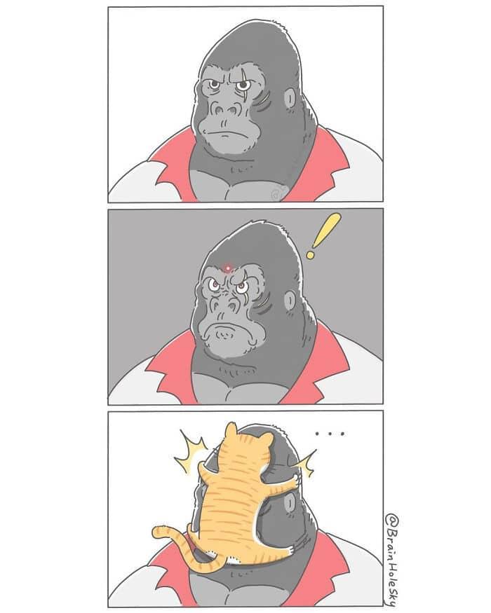 Artista taiwanês ilustra personagens fofinhos em situações engraçadas 3